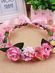 Satin Fabric Headpiece-Wedding Special Occasion Casual Outdoor Headbands Wreaths 1 Piece