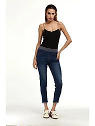 Femme Street Chic Taille Normale Jeans Short Pantalon,Slim Couleur Pleine
