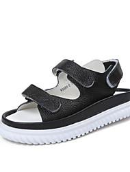 Damen-Sandalen-Lässig-PU-Flacher Absatz-Komfort-