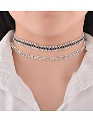 Women's Choker Necklaces Rhinestone Jewelry Copper Rhinestone Rhinestone Euramerican Fashion Personalized Jewelry ForParty Special
