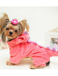 Cães Casacos Roupas para Cães Fofo Da Moda Blocos de cor Verde Rosa claro