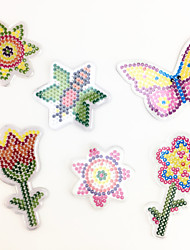 3PCS 5MM Fuse Beads Template Clear Pegboard Colorful Flower Bee Butterfly Shape Pegboard DIY Jigsaw for 5mm Fuse Beads(Random Mixed Shape)