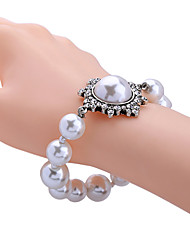 Women's Strand Bracelet Fashion Alloy Round White Jewelry For Special Occasion Christmas Gifts 1pc