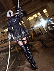 Inspired by NieRAutomata  YoRHa No. 2 Type B  Anime Cosplay Costumes Cosplay Suits Long Sleeve Dress Headband Gloves Stockings More Accessories