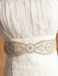 Fashionabl Elegant Bridal Flower Sash Belts Wedding Belt Sashes For Evening Party Gown