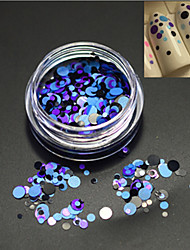 1bottle fashion diy beauté ronde tranche nail art laser paillette ronde paillette décoration p19