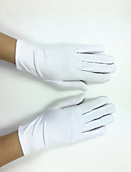Wrist Length Fingertips Glove Elastic Satin Polyester Bridal Gloves Party/ Evening Gloves Spring Summer Fall with DIY Pearls and Rhinestones