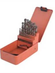 Steel Shield Twist Drill 25 Pieces Of Cobalt High Speed Steel Straight Shank Drill Set / 1 Set