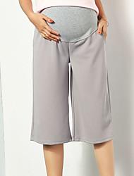Expectant Mother's Comfortable Cotton Thin Section Chiffon Wide-Legged Pants Seven Straight Wide Leg Abdomen Slacks