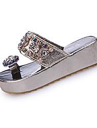 Women's Sandals Comfort First Walkers Light Soles PU Spring Summer Fall Casual Walking Comfort First Walkers Light SolesRhinestone Sequin
