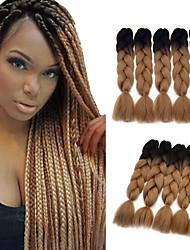 Two Tone Ombre Jumbo Braid Hair Extension 5Pcs/Lot 100g/pc Kanekalon Fiber for Twist Braiding Hair