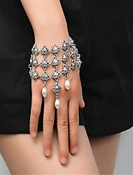 Women's Strand Bracelet Imitation Pearl Handmade Fashion Imitation Pearl Alloy Geometric Jewelry For Special Occasion 1 pcs