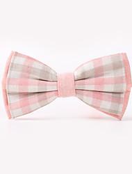 The Fashion Leisure Clothing Accessories CB01902 Cotton Men's Plaid Bow Tie
