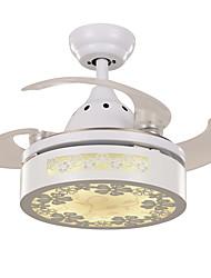Ventilateur de plafond ,  Contemporain Peintures Fonctionnalité for LED MétalSalle de séjour Chambre à coucher Salle à manger Cuisine