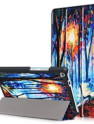 Capa de capa de impressão para lenovo tab3 guia 3 7 mais 7703 tb-7703x tb3-7703f com filme de tela