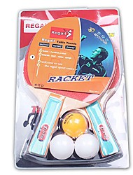 2 Stelle Ping-pong Racchette Ping Pang Gomma Manopola corta Altro