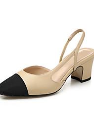 Feminino-Sandálias-Chanel-Salto Grosso--Outras Peles de Animais-Casual