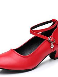 Women's Dance Shoes Heels Latin Synthetic Low Heel Outdoor Black/Red
