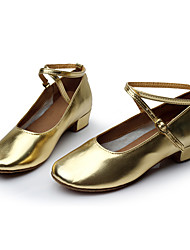 Women's Dance Shoes Leatherette Modern Flats Heel Indoor Gold Customizable