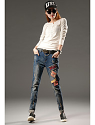 Spring new harem pants jeans stretch thin casual jeans female trousers European leg jeans