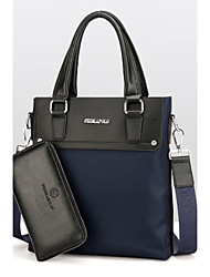 Men Bags All Seasons PU Bag Set with for Event/Party Casual Formal Office & Career Blue Black