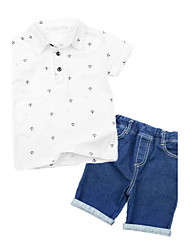 Boys' Print Sets,Rayon Summer Short Sleeve Clothing Set