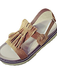 Sandals Spring Summer Fall Slingback Ankle Strap PU Outdoor Casual Low Heel Lace-up Black Silver Dark Brown Walking