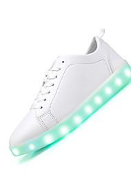 Feminino-Tênis-Light Up Shoes-Rasteiro--Pele-Casual