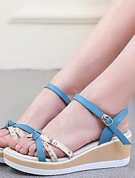 Damen-Sandalen-Lässig-PUKomfort-Weiß Grün Blau