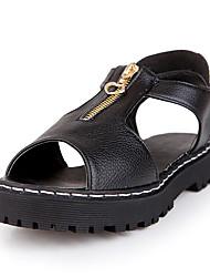 Damen-Sandalen-Lässig-Mikrofaser-Blockabsatz-Komfort-