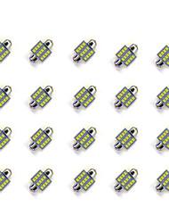 20pcs 31mm 12 * 2835 smd вело свет электрической лампочки автомобиля dc12v
