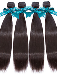 7A Natural Color Hair Weaves Indian Texture Straight 12 Months 4 Pieces hair weaves