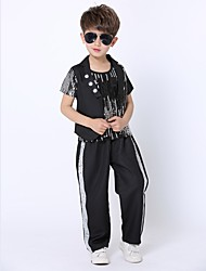 Jazz Outfits Kid's Performance Polyester Sequin 2 Pieces Tops Pants
