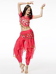 Shall We Belly Dance Outfits Women Chiffon 3 Pieces Top/Scarf/Pants