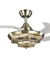 Ventilateur de plafond ,  Tiffany Retro Rétro Rustique Bronze Fonctionnalité for LED Designers MétalSalle de séjour Chambre à coucher