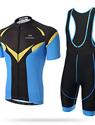 XINTOWN® Quick Dry Breathable Cycling Jersey Short Set  Pro Team Men's Cycling Jersey Bib Shorts With 3D Padded Flash Man