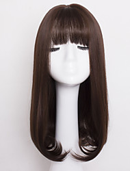 Fashion Brown Color Wave Synthetic Hair Daily Wig for Women