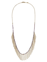 Bohemian Thin Beads Chain Tassel Necklace 193 Extension