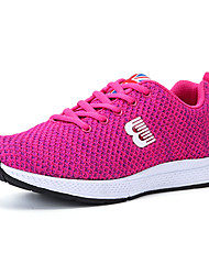 Women's Athletic Shoes Spring Summer Fall Comfort Light Soles Tulle Outdoor Athletic Casual Flat Heel Lace-up Running