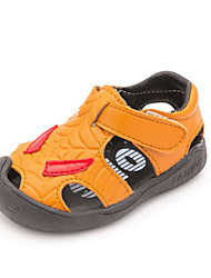 Kids' Sandals First Walkers Leatherette Casual Flat Heel Yellow Gray White