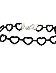 Women's Choker Necklaces Heart Velvet Unique Design Love Jewelry For Party Daily Casual 1pc