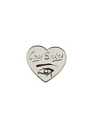 Fashion Trendy Cute  Enamel  Love Heart  Metal Brooch
