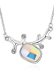 Women's Pendant Necklaces Jewelry Square Jewelry Crystal Alloy Unique Design Fashion Euramerican Jewelry ForParty Other Ceremony Evening