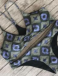 Bikinis Couleur Pleine Licou Polyester