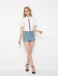Femme Street Chic Taille Normale Jeans Short Pantalon,Ample Imprimé
