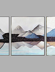 Hand-Painted Modern LandScape Oil Painting Three Panel Canvas Oil Painting Multi Split Oil Painting