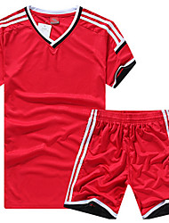 Men's Soccer Jersey + Shorts Breathable Spring Winter Fall/Autumn Classic Polyester Football/Soccer