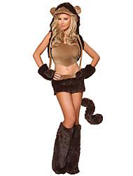 Costumes de Cosplay Animal Fête / Célébration Déguisement d'Halloween Autres Manteau Jupe Gants Jambières Chapeau Halloween Féminin