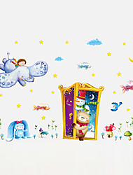 Wall Stickers Wall Decals Style Cartoon Animals Park PVC Wall Stickers