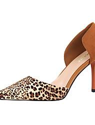 Damen-High Heels-Kleid-Leder-Stöckelabsatz-Komfort-